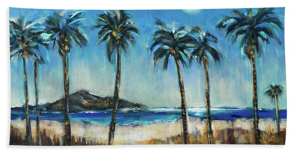 Island Lagoon At Night Beach Towel