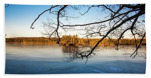 Island Reflection Beach Towel