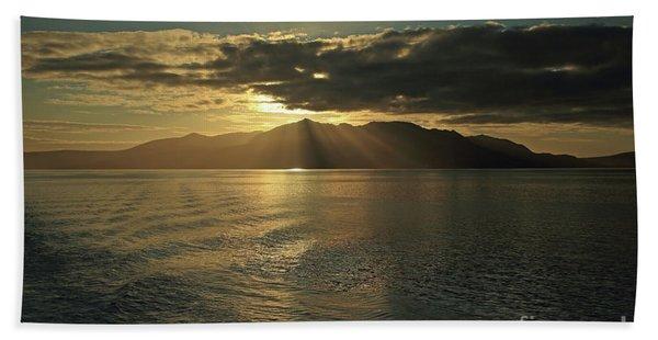 Isle Of Arran At Sunset Beach Sheet