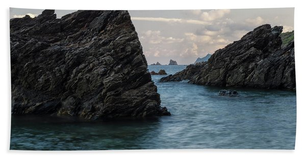 Islets At The Bottom Of The Rocks Beach Towel