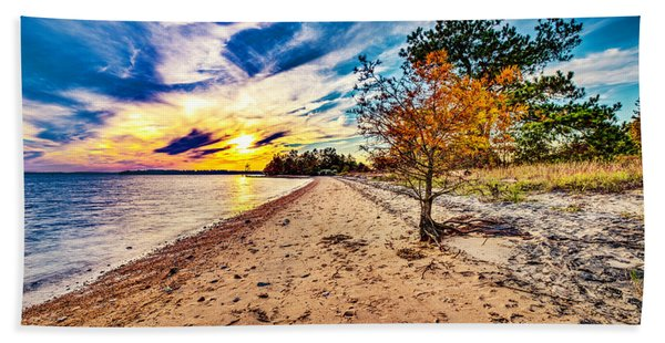 James River Sunset Beach Towel