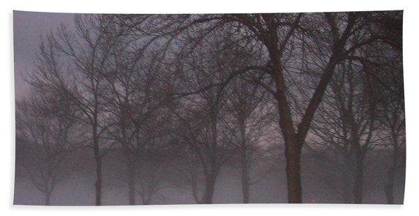 January Fog 4 Beach Towel