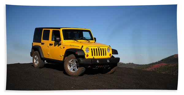 Jeep Rubicon In The Cinders Beach Towel