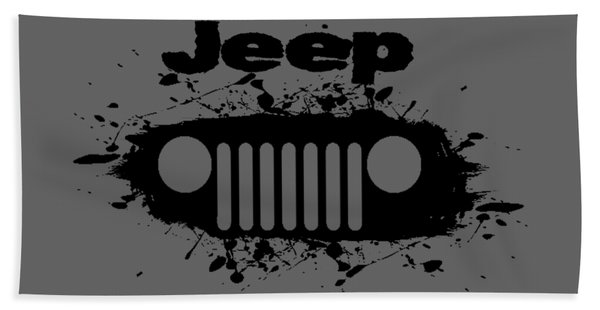 Jeep Splatter Beach Towel