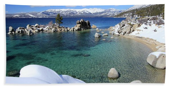 Beach Towel featuring the photograph Jewels Of Winter by Sean Sarsfield