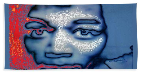 Jimi Hendrix Oh Say, Can You See The Rockets Red Glare Beach Towel
