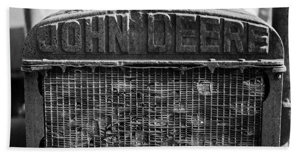 John Deere In Monochrome Beach Towel