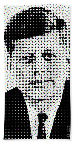 John F Kennedy In Dots Beach Towel