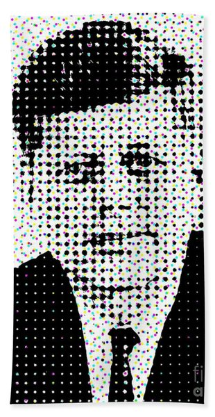 John F Kennedy In Dots Beach Sheet