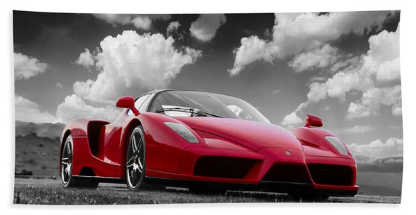 Just Red 1 2002 Enzo Ferrari Beach Towel