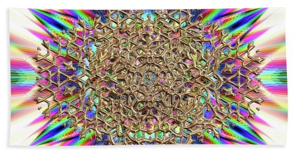 Beach Towel featuring the digital art Jyoti Ahau 2374 by Robert Thalmeier