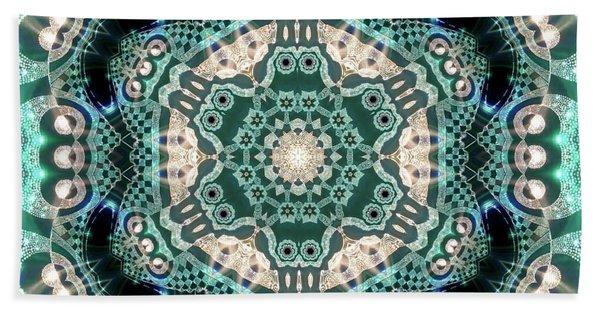 Beach Towel featuring the digital art Jyoti Ahau 997 by Robert Thalmeier