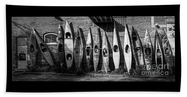 Kayaks And Canoes Beach Towel