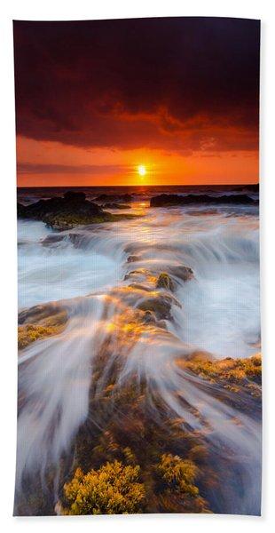 Keahole Point Sunset Beach Towel
