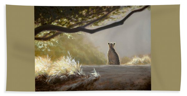 Keeping Watch - Cheetah Beach Towel