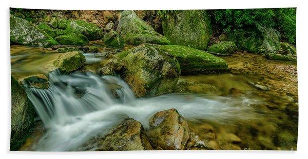 Kens Creek In Cranberry Wilderness Beach Towel