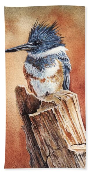 Kingfisher I Beach Towel