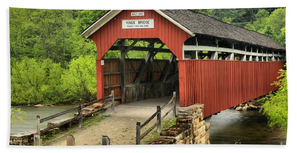 Kings Covered Bridge Somerset Pa Beach Towel