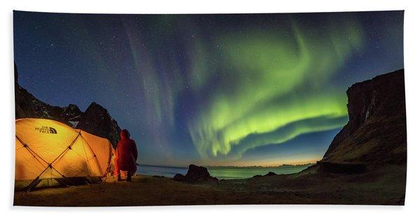 Kvalvika Under The Lights Beach Towel