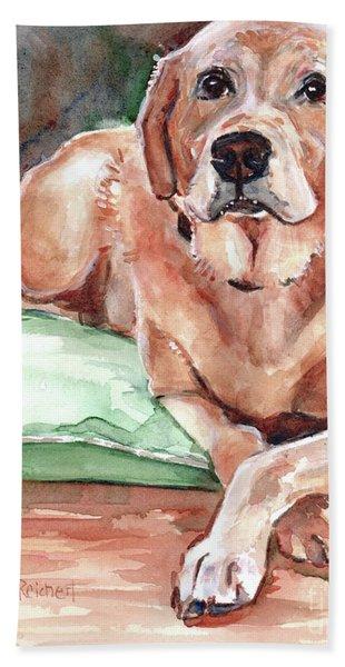 Labrador Retreiver Yellow Beach Towel