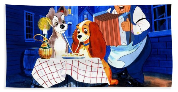 Lady And The Tramp Beach Towels Fine Art America