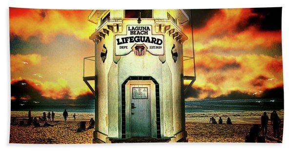 Laguna Beach Lifeguard Hq Beach Towel