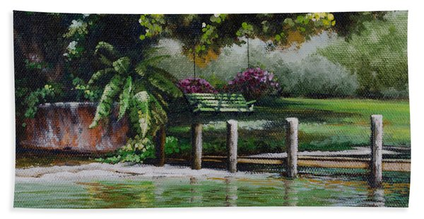 Lake Carroll Morning Beach Towel