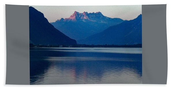 Lake Geneva, Switzerland Beach Towel