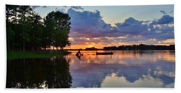 Lake Murray Sc Reflections Beach Towel