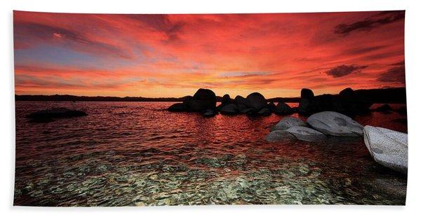 Beach Towel featuring the photograph Lake Tahoe Liquid Dreams by Sean Sarsfield
