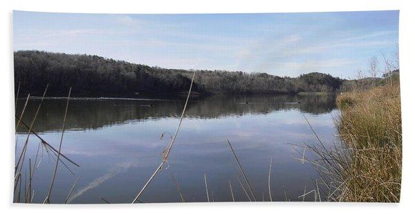 Lake Zwerner Early Spring Beach Towel