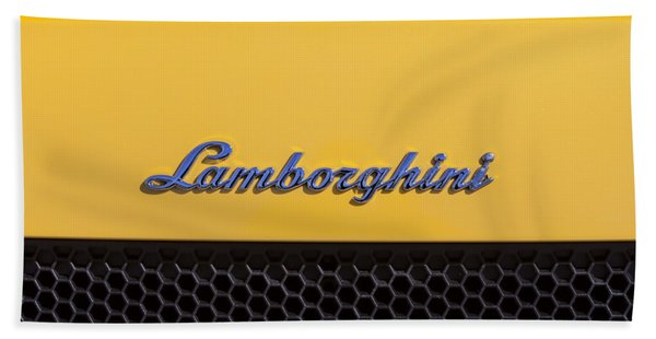 Beach Towel featuring the photograph Lamborghini by David Millenheft