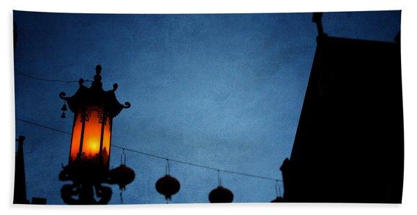 Lanterns- Art By Linda Woods Beach Towel