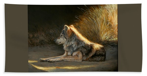 Last Light - Wolf Beach Towel