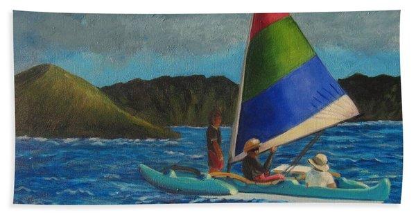 Last Sail Before The Storm Beach Towel