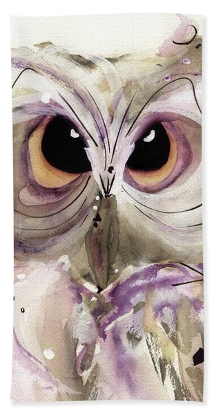 Lavender Owl Beach Towel