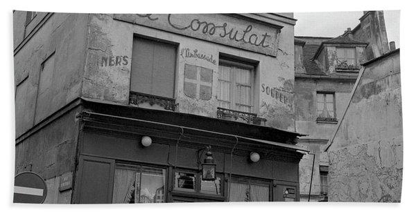 Le Consulat, A Restaurant In Montmartre, Paris, 1977 Beach Towel