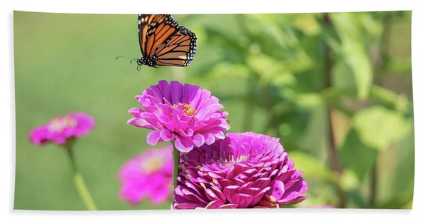 Leaping Butterfly Beach Towel