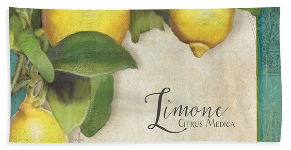 Lemon Tree - Limone Citrus Medica Beach Towel