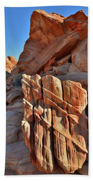 Light Creeps In At Valley Of Fire State Park Beach Towel