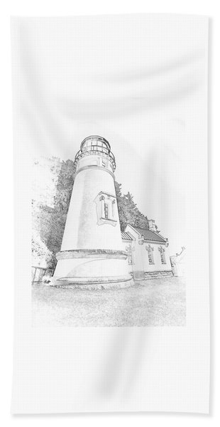 Lighthouse In Oregon Beach Towel