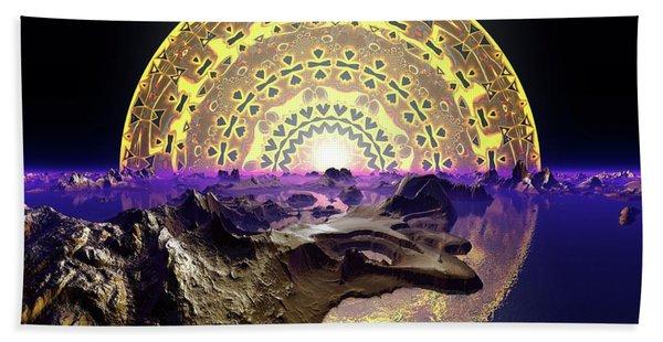 Beach Towel featuring the digital art Lightscape 24 by Robert Thalmeier