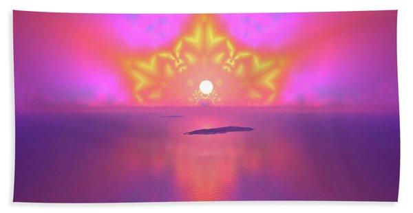 Beach Towel featuring the digital art Lightscape 25 by Robert Thalmeier