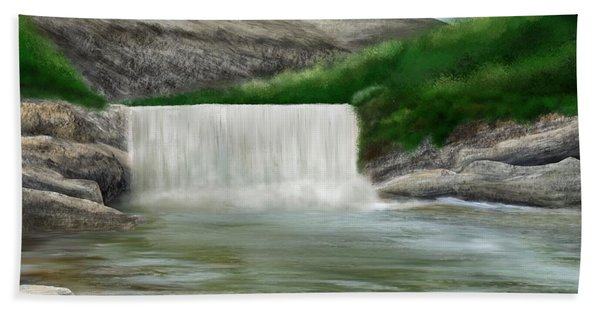 Beach Towel featuring the digital art Lily Creek by Mark Taylor