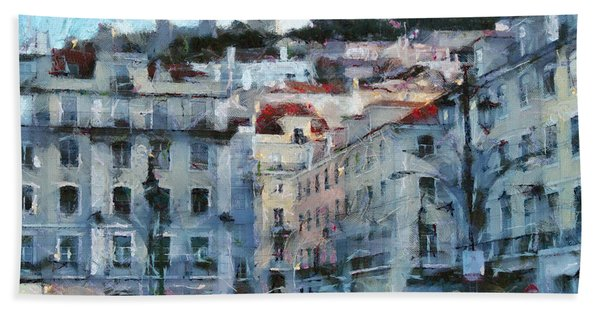 Lisbon Street Beach Towel