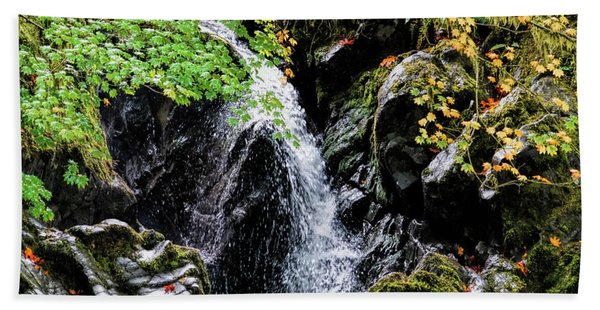 Beach Towel featuring the photograph Little Falls by Michael Hope