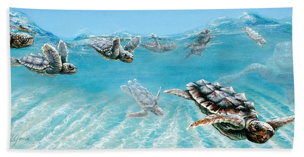 Little Loggerheads Beach Towel