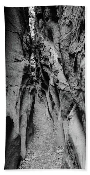 Little Wild Horse Canyon Bw Beach Towel