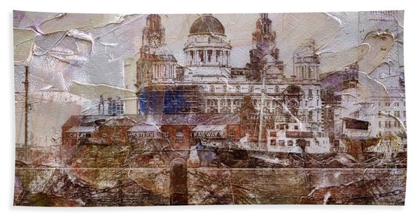 Beach Towel featuring the painting Liverpool by Mark Taylor