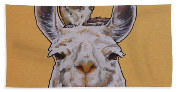 Llois The Llama Beach Towel